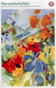 London underground poster - Kew by tube